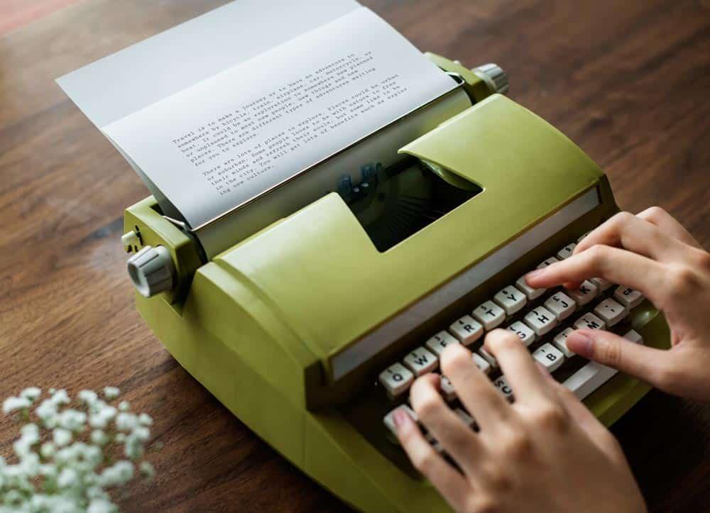 Machine à écrire - Écrire pour le web
